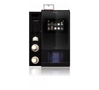 Unicum Nero Touch Counter top Beverage Machine With Side Cup Dispenser Cabinet -220V-230V-50HZ - 1800w