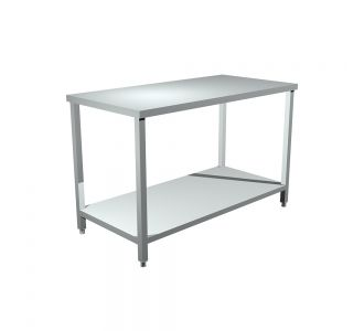TOMADO TUS-140  Stainless Steel Work Table with Under Shelf - 140Wx70Dx90H/Cm
