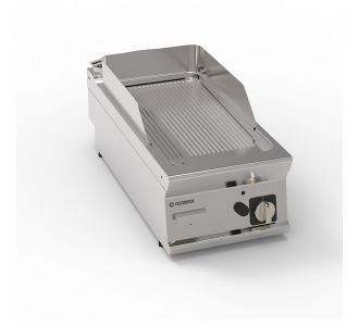Tecnoinox 313039 - Gas Griddle with Ribbed Plate Top - 40x90x28 cm