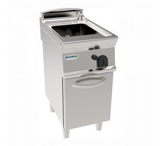Tecnoinox 313070 - Freestanding 40Lt GN1/1 Gas Pasta Cooker on Closed Cabinet - 15Kw-40x90x90cm