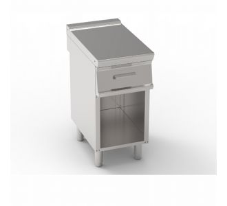 Tecnoinox 796703 - Work Top with GN1/1 Drawer, Freestanding on Open Cabinet - 40x70x90 cm