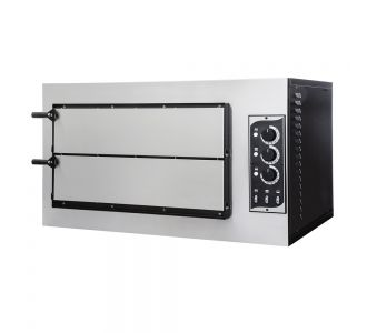 Prismafood Basic 2/50 - Professional Electric Oven - Double Deck - 2 + 2 Pizzas ø 30 Cm - 230V - 7.5 Kw