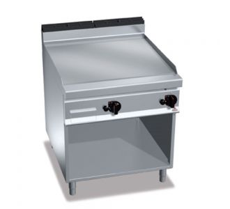 Berto's G9FL8M-2 Gas Griddle With Cabinet -14Kw-80X90X90cm