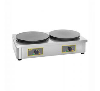 Roller Grill CDE 350 - Professional Electric Crepe Maker Double - 2 Plates of 350 mm - 860x50x240 - 3Kw x2