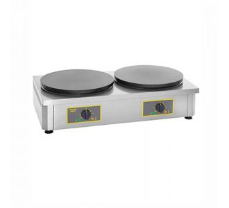 Roller Grill CDE 400 - Professional Electric Crepe Maker Double - 2 Plates of 400 mm - 860x500x240 - 3.6Kw x2