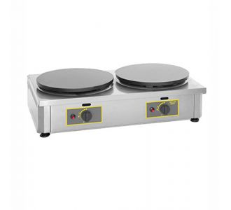 Roller Grill CDG 400 - Professional Gas Crepe Maker Double - 2 Plates of 400 mm - 860x485x240