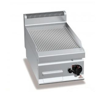Berto's G7FR4B Gas Griddle Ribbed Plate-6.9Kw-40x70x29cm