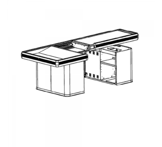 Modern  Expo 1093-123 Modular Check Out  Counter With Wide Basin