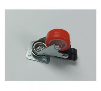 TECNORUOTE DIAMETER 4CM CASTERS WITH FRAME ZINC PLATED