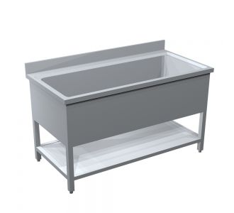 TOMADO STAINLESS STEEL POT WASH SINK WITH 1 UNDER SHELF - 140Wx70Dx90H/ Cm