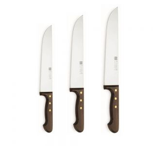 Sico 3 pieces Exotic Wood Chef knives